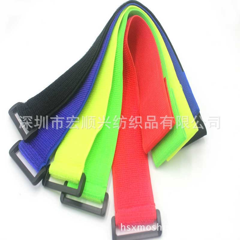 Brand new and cheap 3.8*40cm Tied band Elastic Velcro strap
